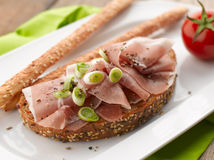 Parma Ham Sandwich Royalty Free Stock Photography