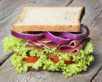 Parma ham sandwich Stock Images