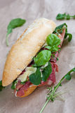 Parma ham sandwiches Stock Photo
