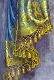 PARMA, ITÁLIA - 17 DE ABRIL DE 2018: O detalhe de fresco barroco da cortina na igreja Chiesa di San Bartolomeo foto de stock royalty free