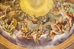 PARMA, ITALIEN - 17. APRIL 2018: Das Fresko der Annahme auf der Kuppel von Kirche Chiesa-Di Santa Maria-degli Angeli Lizenzfreies Stockfoto