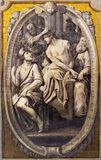 PARMA, ITALY - APRIL 16, 2018: The fresco of Crowning of thorns in church Basilica di Santa Maria della Steccata from 17. cent.. PARMA, ITALY - APRIL 16, 2018 royalty free stock images