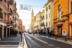 Parma, Italy. Della Repubblica street in Parma, Italy stock photos