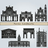 Parma landmarks and monuments Stock Image