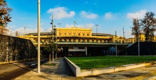 Parma Stazione in Emilia-Romagna, northern Italy. Parma Stazione is railway station serving city of Parma, in region of Emilia-Romagna, northern Italy. Parma stock photo