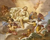 Free Parma - The Detail Of The Fresco Jesus Among The Angels On The Main Altar Of Church Chiesa Di San Antonio Abate Royalty Free Stock Photo - 119368355