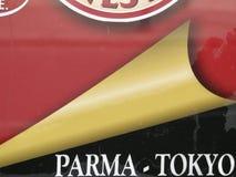 PARMA - TOKYO - un segno dentro Parma, Italia - ITALIA immagine stock