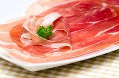 Parmaschinken. lizenzfreies stockbild