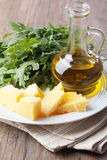 Parmeasan and olive oil Stock Photo