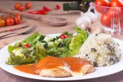 Parmegiana kurczak Polędwicowy Obrazy Stock