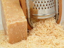 Parmesão-queijo italiano Fotografia de Stock Royalty Free