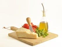 Parmesam italiano con los tomates Fotos de archivo