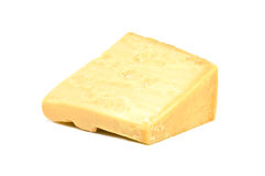 Parmesan. Block of parmesan isolated on white Royalty Free Stock Photo