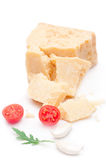 Parmesan. Cheese on white background stock image