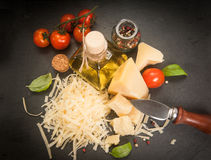parmesan royalty-vrije stock afbeelding