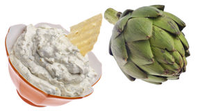 Parmesan Artichoke Dip Royalty Free Stock Photo