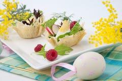 Parmesan baskets Royalty Free Stock Photography