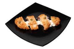 Parmesan breaded chicken Stock Photography