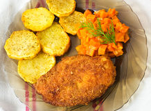 Free Parmesan Breaded Chicken Breast Royalty Free Stock Photography - 22264437