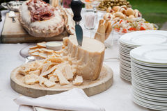Parmesan in the buffet Stock Image