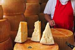 Parmesan cheese. Stock Images