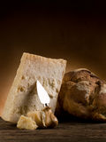 Parmesan cheese and bread Royalty Free Stock Image