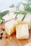 Parmesan cheese, close-up Royalty Free Stock Photos