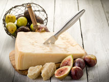 Parmesan cheese and figs Royalty Free Stock Photo