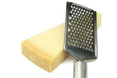 Parmesan cheese and grater Stock Image