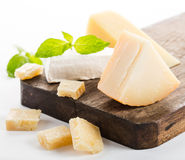 Parmesan cheese isolated Stock Image