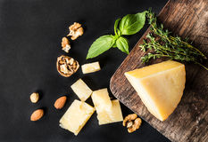 Parmesan cheese isolated Royalty Free Stock Images