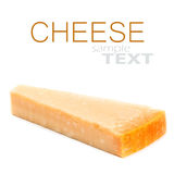 Parmesan Cheese  Isolated on White Background close up. Piece of Royalty Free Stock Image