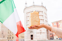 Parmesan cheese in Parma town Royalty Free Stock Photo