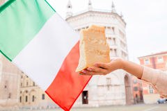 Parmesan cheese in Parma town Royalty Free Stock Images
