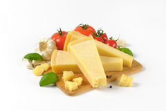 Parmesan cheese and vegetable garnish Stock Image