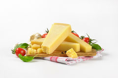 Parmesan cheese and vegetable garnish Royalty Free Stock Photo