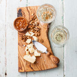 Parmesan cheese and walnuts Stock Photography