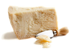 Parmesan cheese  on white  Stock Photography