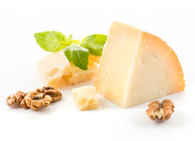 Parmesan cheese. On white background stock photography