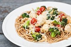 Parmesan Chicken and Broccoli Stock Photos