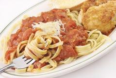 Parmesan Chicken Fettucini Royalty Free Stock Image