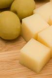 parmesan d'olives de fromage Image stock