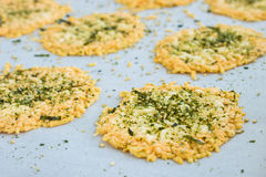 Parmesan Furikake Crisps Royalty Free Stock Photo