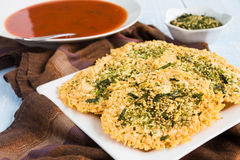 Parmesan Furikake Crisps Royalty Free Stock Photography