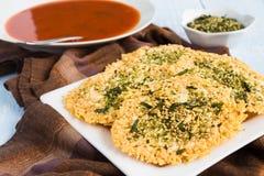 Parmesan Furikake Crisps Royalty Free Stock Photography
