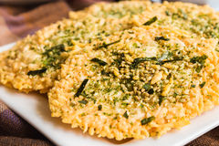 Parmesan Furikake Crisps Royalty Free Stock Images