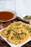 Parmesan Furikake Crisps Stock Photo