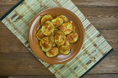 Parmesan Garlic Roasted Baby Potatoes Royalty Free Stock Photography