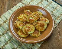 Parmesan Garlic Roasted Baby Potatoes Royalty Free Stock Images
