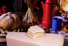 Parmesan - Italian cheese made from raw cow milk stock photography